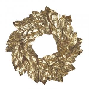 Dekorace - věnec ze zlatých listů (3300 Kč) Le Patio
