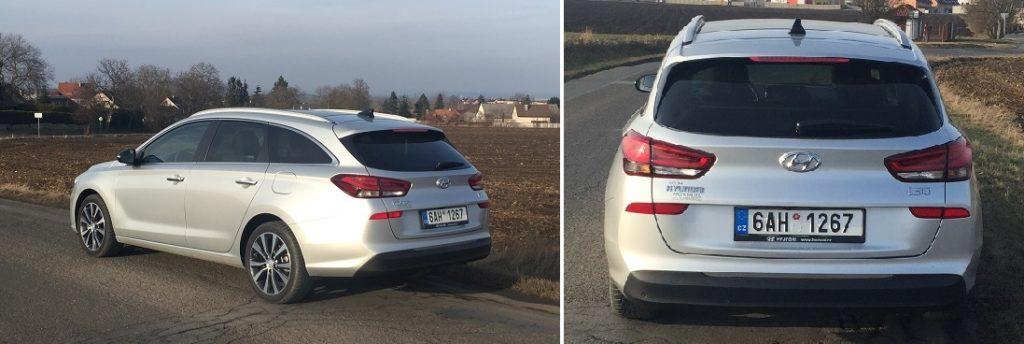 Hyundai i30 kombi – v zadním spojleru je integrováno třetí brzdové světlo