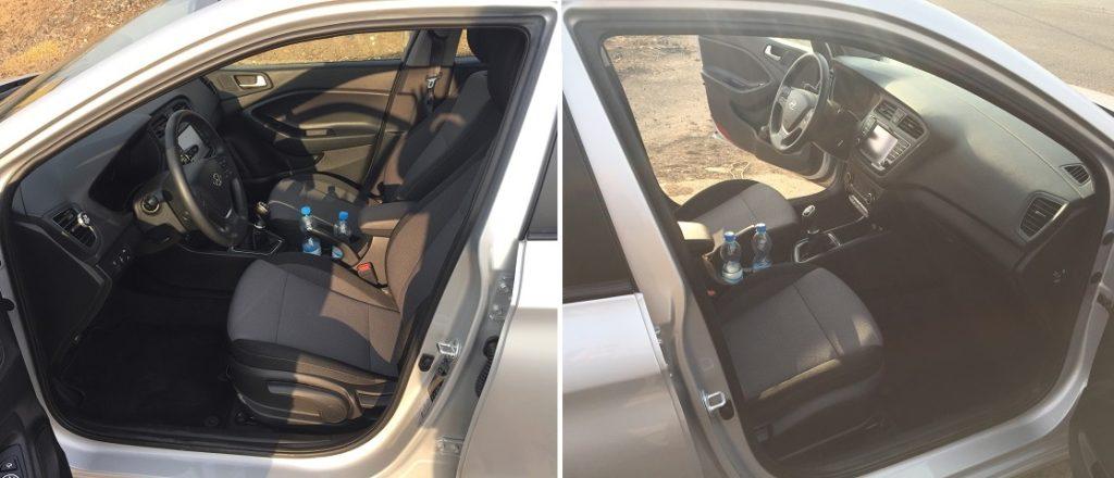 Hyundai i20 – pohled od řidiče i spolujezdce