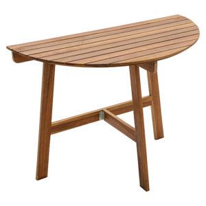 Skládací stolek půlkruhový