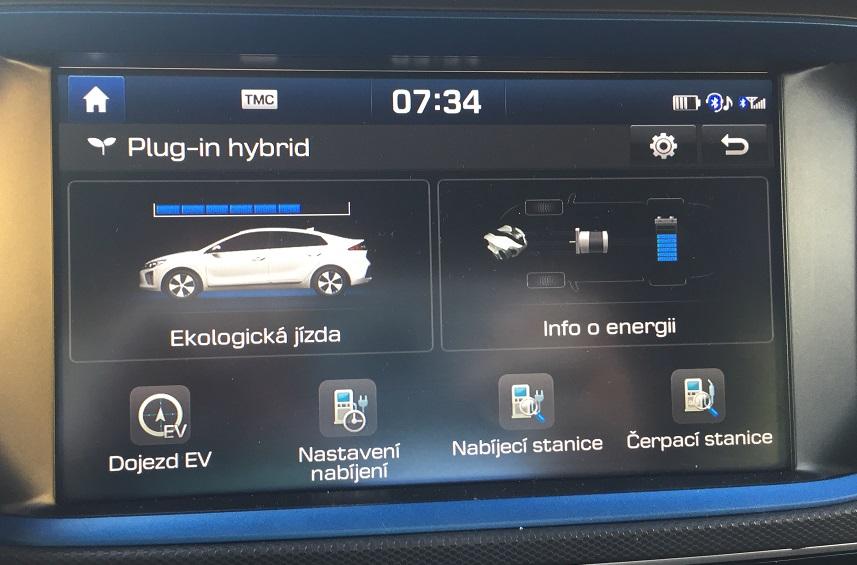 Hyundai IONIQ Plug-in Hybrid: informační panel Plug-in hybridu