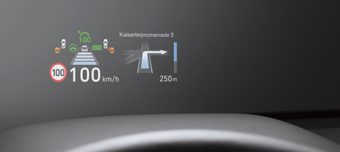 Hyundai Santa Fe: průhledový displej