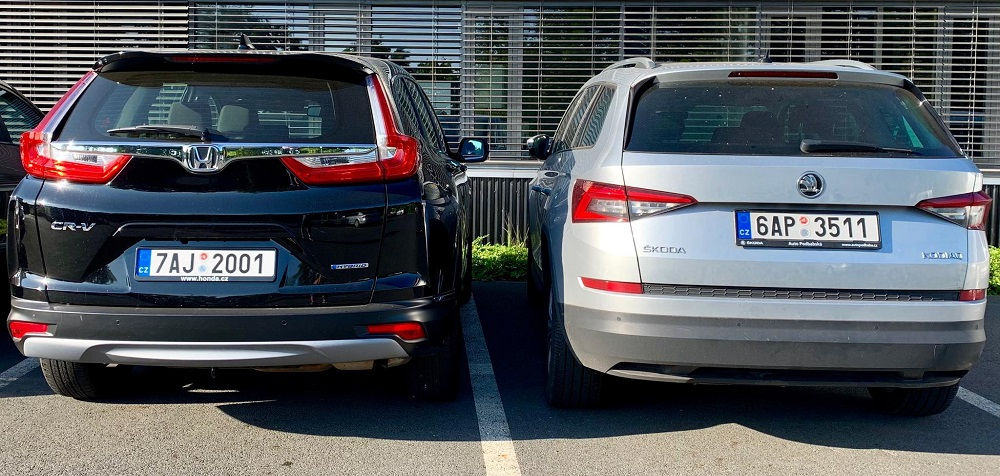 Mimochodem nejde o malé SUV, Honda CR-V je stejně velká jako Škoda Kodiaq.