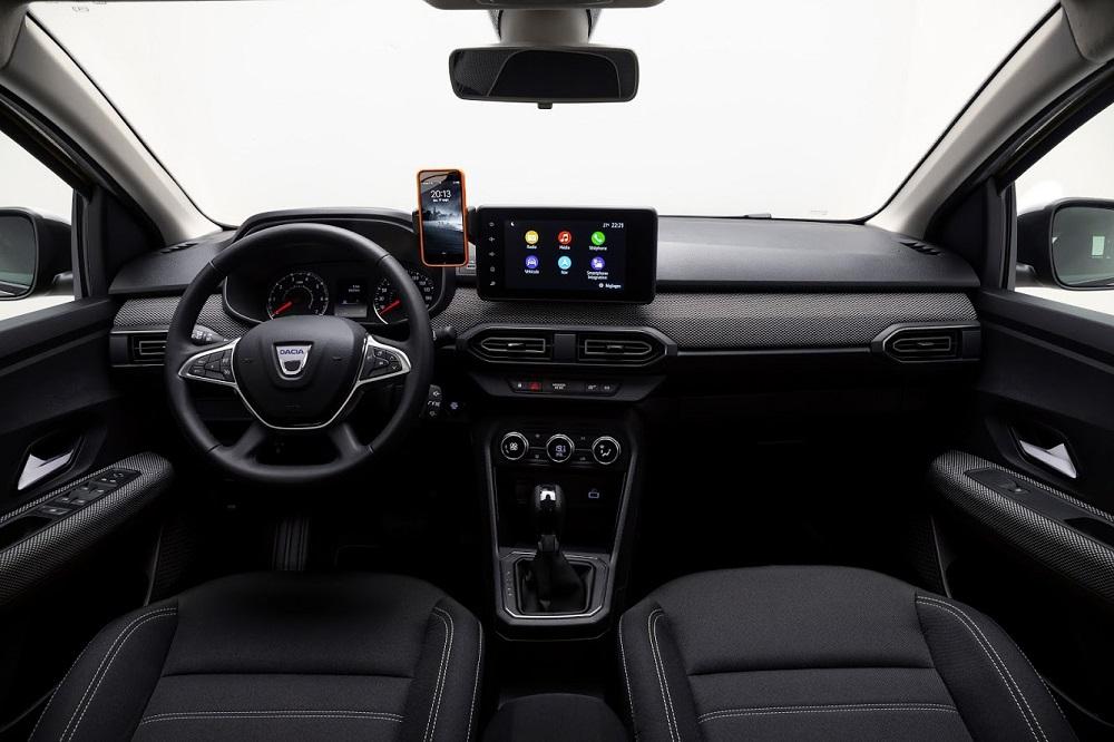 Interiér nových vozů Dacia